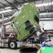 truck tilted