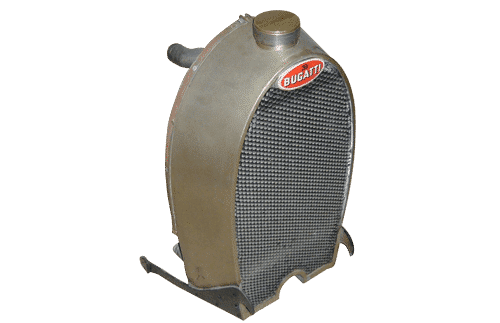 Vintage radiator 1918 bugatti model
