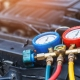 Car air conditioner check service and leak detection