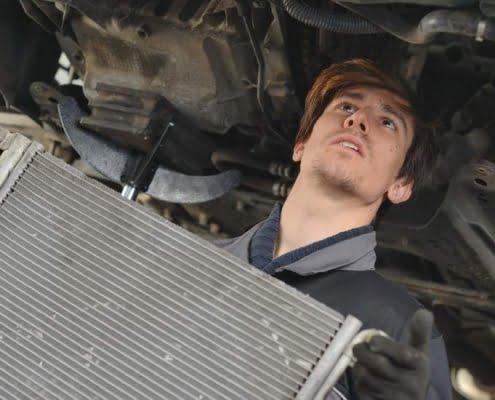 fixing a car radiator